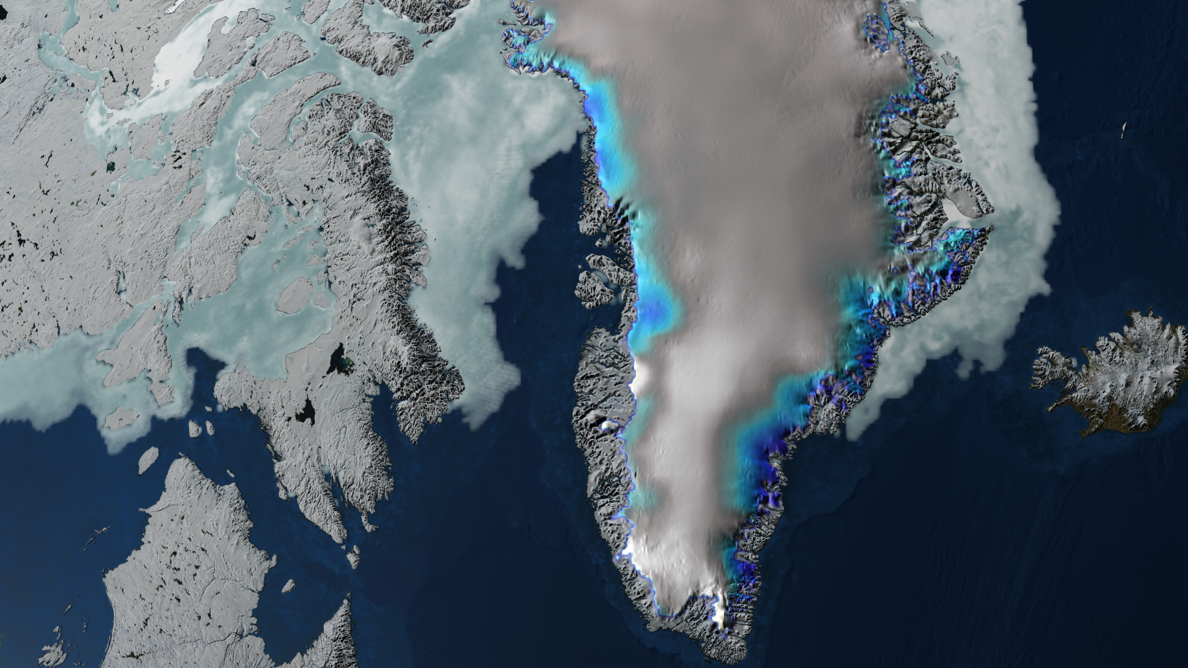 Elevation change over Greenland between 2003 and 2006